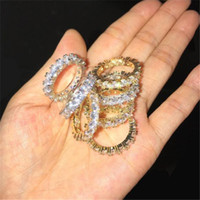 4MM Size 6- 12 1 Row Tennis Chain Circle Big Baguette Cubic Z...
