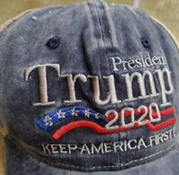 Trump 2020 Baseball Cap Keep America First Hats USA President Election Caps Embroidery Cotton Adjustable Snapback Trump Net Hat GGA3610-1