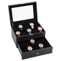 Double-layer watch glasses boxs jewelry storages cosmetic box earring necklace