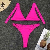 4 Farben 2020 New Badende Thong Bikini Set Badebekleidung weibliche zwei Stücke mit hohen Taille Bikini-Frauen-Badeanzug-Wear V778 Badeanzug