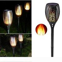 태양 램프 태양 토치 라이트 야외 화염 효과와 방수 장식 태양 광 LED 토치 정원 조명 조명