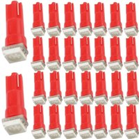 T5 LED del bulbo del tablero de instrumentos de la rociada Luces Accesorios Rojo 12V SMD base de la cuña de indicador del coche Instrumento de camiones de CA de la lámpara interior auto 37 73 74 79