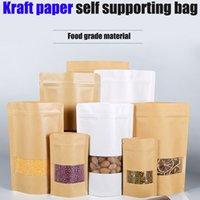 Buzlu Pencere Vellum Kağıt Torba Somun Kraft Kağıt Kendinden Mühürlü Çay Kendine Bağlantı Paket Çanta Gıda Çantası Özel Baskı Mylar Çanta