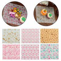 50pcs 25 * 21,8 centímetros Wax Paper Grade graxa Papel envoltórios Wrapping Para pão de sanduíche Fries Burger oilpaper Bakeware 6SJp #