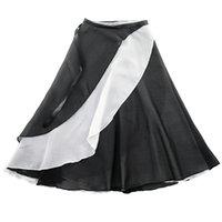"""Sahne Giyim D0827 Yetişkin Dans Etek Ulusal Bale Öğretmen Uzun """"Uygulama Dantel Şifon Çift Tül Takım Dans Kostümleri"""