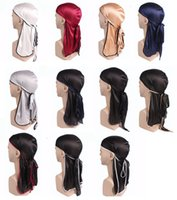 Long Tail Braid Silk Satin Hair capotas Color Rich Hat boa flexibilidade Bath Cap fácil de limpar pessoais 4 03yd E2