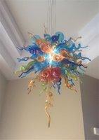 Villa LED de alta decoración del arte Ceriling Luz American Classic de cristal colgante de luz Dale Chihuly Estilo soplado lámparas de cristal