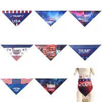 Amerikanische Generäle Wahl Tiere Schal Flagge Druck Triangular Schals Tierbedarf Haushalt Kunterbunt Trump Biden Factory Direct 7bma E2