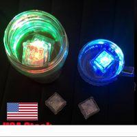 LED RGB clignotant glaçon lumières eau liquide submersible capteur LED pour le Club fête de mariage Champagne Tour