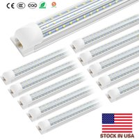 NEW Integrated vshap 2.4m 8ft 72W 120W Led T8 Tube Lights SMD2835 576 Leds LEDGlow lights Cool White Frosted Transparent Cover 100-305V