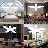 Salon Garaj Aydınlatma için LED Ampul E27 220V Yok Flicker Katlanabilir Fan Blade LED lambalar 30W / 45W / 60W Lampada LED Tavan Işıklar