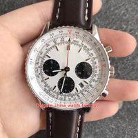 6 Stil En Iyi Sürüm İzle JF Maker 43mm Chronometre AB012012 / BB01 Chronograph Çalışma Swiss ETA 7750 Hareketi Otomatik Erkek erkek Saatler