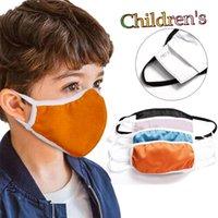 Designer Gesichtsmasken decken Kinder Baumwolle Masken gewaschen Einsatz PM2.5 Filter Anti-Smog staubdicht grenzüberschreitende Explosion schnell DHL geben Schiff frei rosa