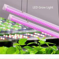 LED Kapalı Bitkiler için Işık, Tam Spectrum, Yüksek Çıktı, Linkable Tasarımı, T8 Entegre Ampul + Fikstürü, Bitki Grow Işıklar, 2 ft-8ft v şekli tüp
