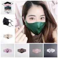 İpek Yüz 2 katmanları Erkekler Kadınlar Brocade Fabric Koruyucu Facical Ağız Kapak Yıkanabilir Yeniden kullanılabilir Nefes ayarlanabilir kulak halkası LJJP199 Maske