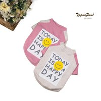 Dog T- shirt Teddy Fadou Alphabet Smiley Print Dog Jacket Fas...