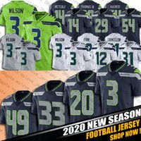 Jamal Adams Russell Wilson Jersey Chris Carson DK Metcalf Trikots Wagner Griffin Rashaad Penny Jersey Seattle