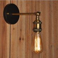 Kapalı Aydınlatma Amerikan Vintage LED Duvar Işıkları 110 V 220 V E27 Metal Duvar Lambaları Retro Rustik Işık Armatürleri Içinde Stokta Aydınlatma