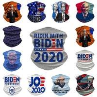 미국 주식 3D macgic 스카프 미국 대통령 선거 조 바이든 아이스 실크 얼굴 사이클링 여성들의 머리 수건 착용 방진 선 스크린 스카프 fy9157 마스크