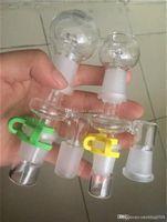 Gros angle de 90 degrés Reclaim Ash Catcher 14.4mm ou 18.8mm mâle adaptateur femelle verre Joint avec Keck Clip pour bongs bécher