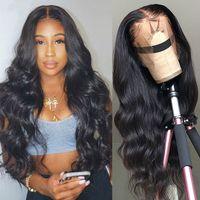 Las pelucas de pelo humano delantero brasileño peluca de la onda del cuerpo de encaje para las mujeres Transparente HD de encaje frontal de la peluca 150 Densidad 6X6 del encierro del cordón de la peluca