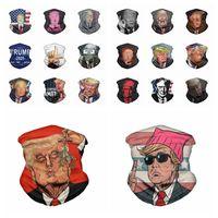 Trump Yüz Açık Bisiklet Boyun Magic Bisiklet Eşarp Parti Maskesi Malzemeleri RRA3318 Yıkanabilir Amerikan Seçim Baskı toz geçirmez maskeler Maske