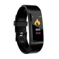 2019 vente chaude ID115 plus intelligent Bracelet Fitness Tracker Podomètre Montre bande de fréquence cardiaque Tensiomètre intelligent Wristband