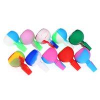 14mm 남성 허브 실리콘 슬라이드 조각 실리콘 그릇 드라이 허브 볼 담배 유리 기억 만 실리콘 물 파이프에 대한 재 포수 그릇 그릇
