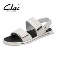 CLAX Mans Leather Sandals 2019 Summer Men' s Casual Shoe...