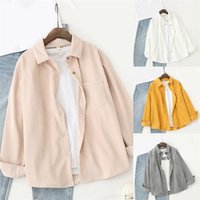 Corduroy Shirts Womens Tops And Blouses Long Sleeve Spring L...