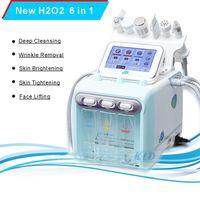 Neueste Hydro Gesichtsdermabrasionsmaschine Sauerstoff Wasserstoff Wassergenerator 6 in 1 Hydra Peel Hydradermabrasion Diamant Microdermabrasion zum Verkauf