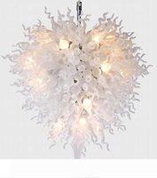 Larege decoración de la boda de mesa Centros de mesa de cristal blanca Lámparas LED Luces Soplado lámparas de cristal Bola de cristal moderna