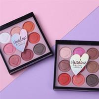 9 couleur perle amour palette fard à paupières lumière citrouille terre maquillage ombre à paupières en forme de coeur couleur lumineux durable à long cosmétiques imperméables à l'eau