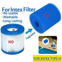 لانتكس نوع H قابل للغسل قابلة لإعادة الاستخدام بركة سباحة تصفية رغوة الإسفنج الإسفنج تصفية اكسسوارات العملي الكيمياء الحيوية والديكور
