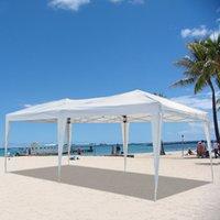 Семейная партия тента Пергола открытый оттенок свадьба палатки пляж барбекю 3 х 6 м четыре окна практичные водонепроницаемые складные палатки белые американские