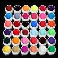 36Colors profesional Pure Color UV Gel para el clavo Extensión de uñas de arte de la decoración de larga duración herramienta de la manicura del constructor (Random 36 colores)