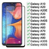 9D alta calidad de cristal templado para Samsung Galaxy A90 5G / A90 / A80 A70 / A60 Anti-A70S Scrath completo protector de la pantalla de cristal a prueba de golpes Film-1