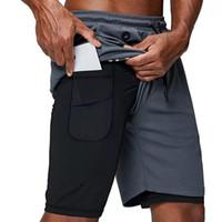 top 2020 nouveaux hommes courants courts courts de sport gym compression pocket pocket usure sous couche de base pantalon court athlétique collants solides shorts pantalons