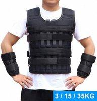 Oei3 # Çalıştırmak için Boks Eğitim Fitness Ekipmanları için 3/15/35 kg Yükleme Ağırlıklı Yelek Ceket Yük Ağırlığı Yelek Egzersiz