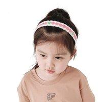 Accessori per capelli Handmade Baby Girls Bambini Fascia Korea Semplice Stampa Carino Tessuto Tessuto Pizzo Hairbands Hoop Copricapo per bambini