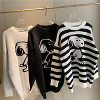 Casual Striped Pullover Women Winter Tops 2020 Korean Style ...