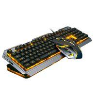 V1 USB con cable Ergonómico Retroiluminado Mecánico Sentir Gaming Keyboard Conjunto de ratones Keyboard Ratones Combo para PC de escritorio para portátil