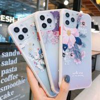 Alivio pintado 3D caja del teléfono para el iphone 7P Caso relieve flor de silicona para el iPhone 11 Pro 7 8 Plus 6 6s XS Max XR portada