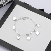 Di alta qualità a catena Silver Plate Bracciale stella regalo braccialetto farfalla Top catena dei monili del braccialetto di modo del rifornimento