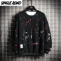 SingleRoad Crewneck Sweatshirt Männer Graffiti Print Hip Hop Harajuku Japanese Street SchwarzesHoodie Männer Sweatshirt Männer Pullover CX200723