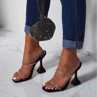 Горячие Продажа-Мода Женщины высоких каблуках сандалии летом сандалии кристалл обувь женщина Бар партии тапочка сексуальные дамы