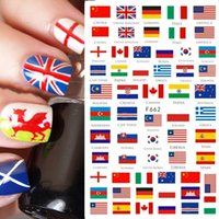 3D Nail Sticker Stickers Fleurs drapeau national Décorations papillon Sliders bricolage Manucure Nail Art Décor filigrane CHF662-671
