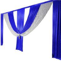 طول 6M الملكي سوجس الزرقاء احتفال الحزب الحدث خلفية زفاف الستار الترتر ستائر خلفية مرحلة تزيين الجدران 2020