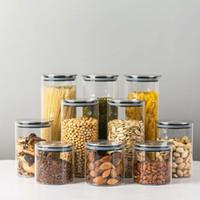 300/500/750/1000 ml Cam Hava Geçirmez Depolama Kavanozları Mutfak Gıda Depolama Teneke kutu Candy Kurabiye Şeker Un