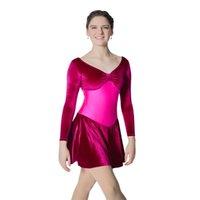Scena nosić czarny, szary, czerwony, fioletowy, królewski niebieski z długim rękawem Velvet Ballet Dance Dance Dress for Panie and Girls